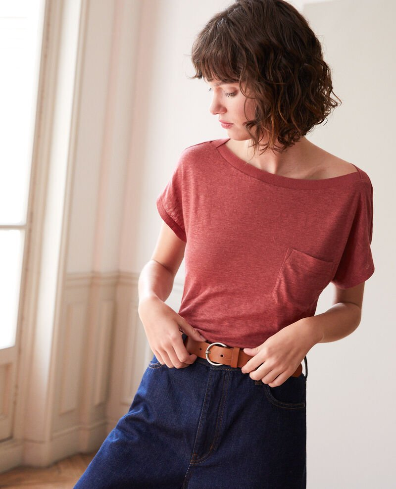 T-shirt with pocket Cowhide Granolita