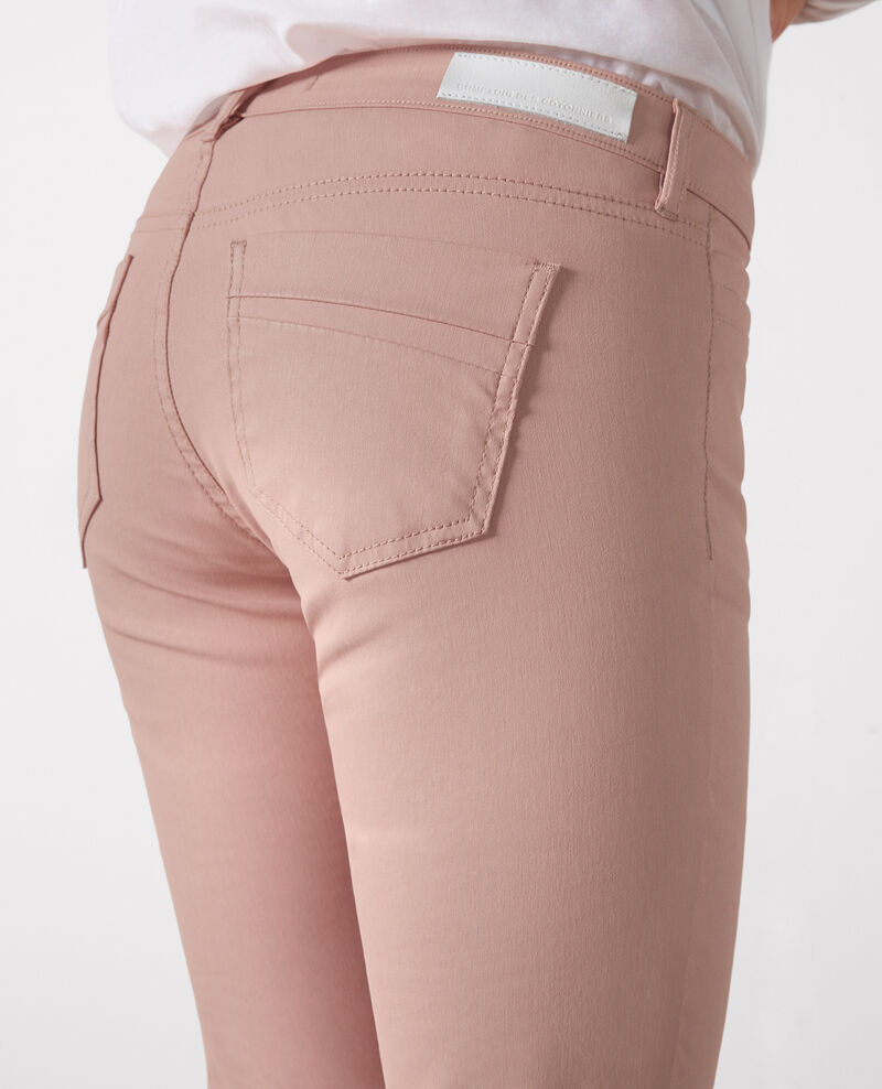 """Ma demoiselle"" resin wash slim-fit jeans Peach Crocodile"