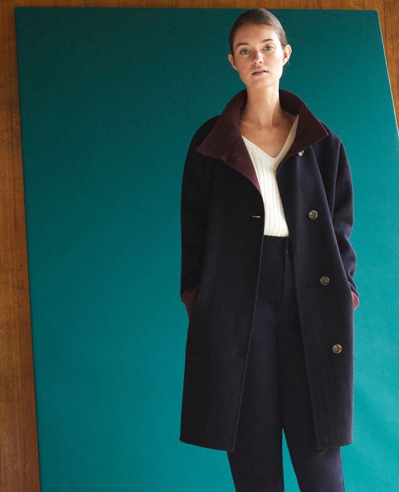 Coat with stand-up collar NAVY