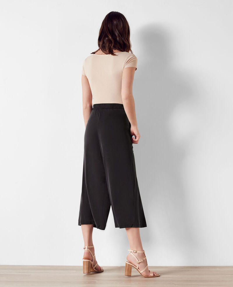 Loose fit culotte trousers Noir Cavaliere