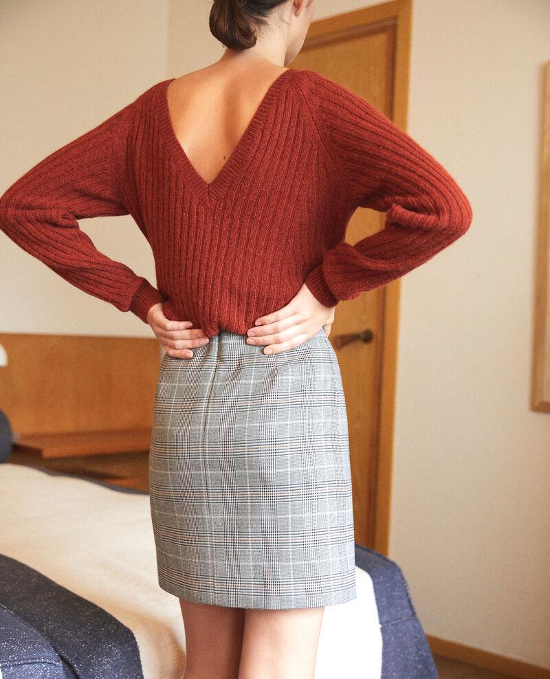 High-waist skirt Noir Galois