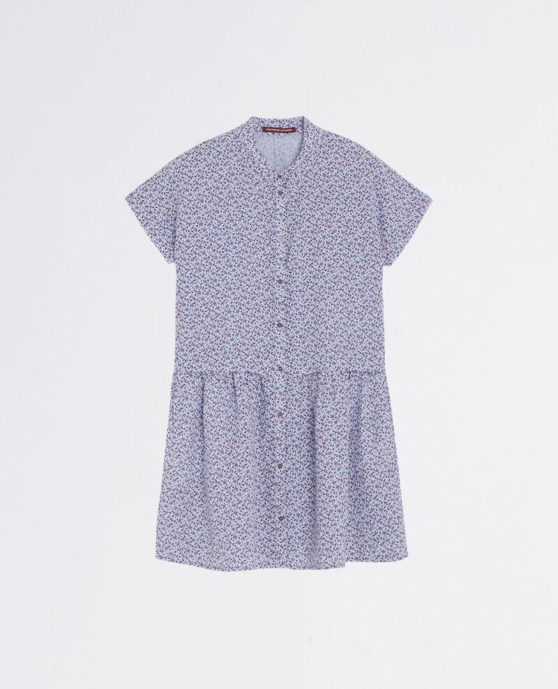 Llinen print shirt dress Linen meadow crimson Cutiepie