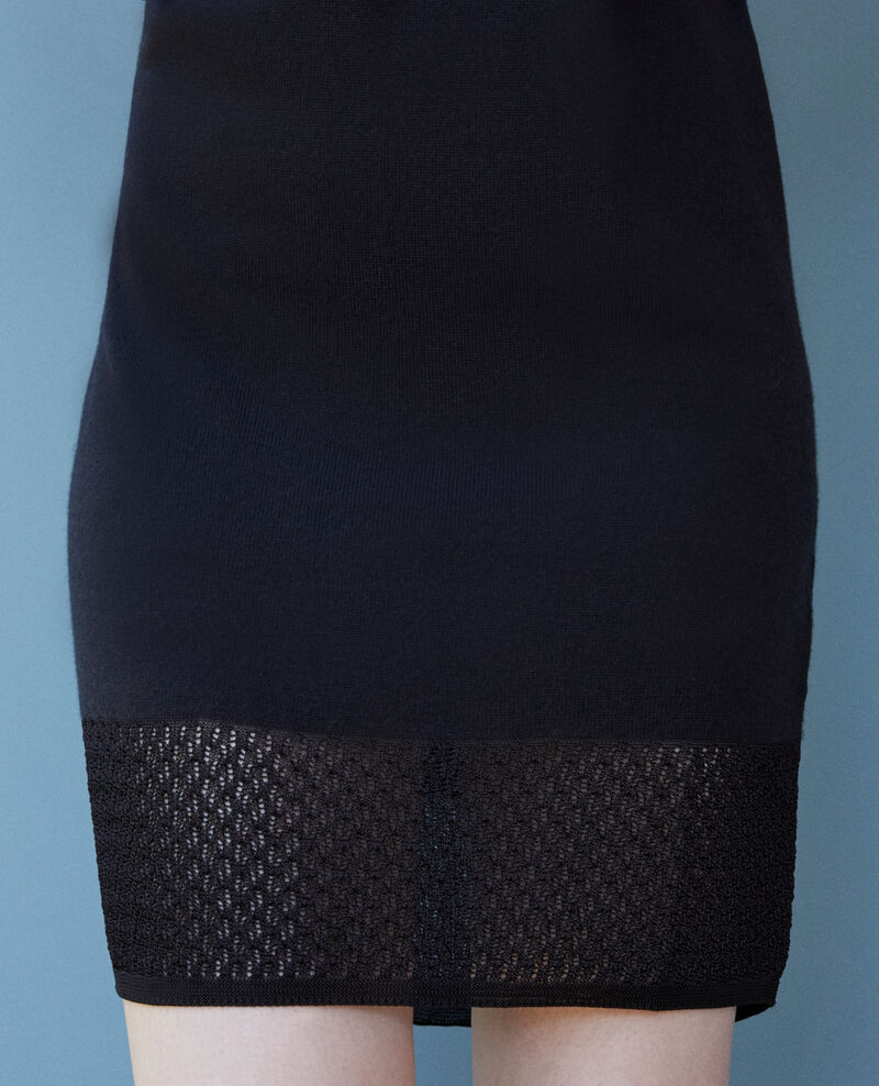 Zero-stitching knitted dress Noir Gedith