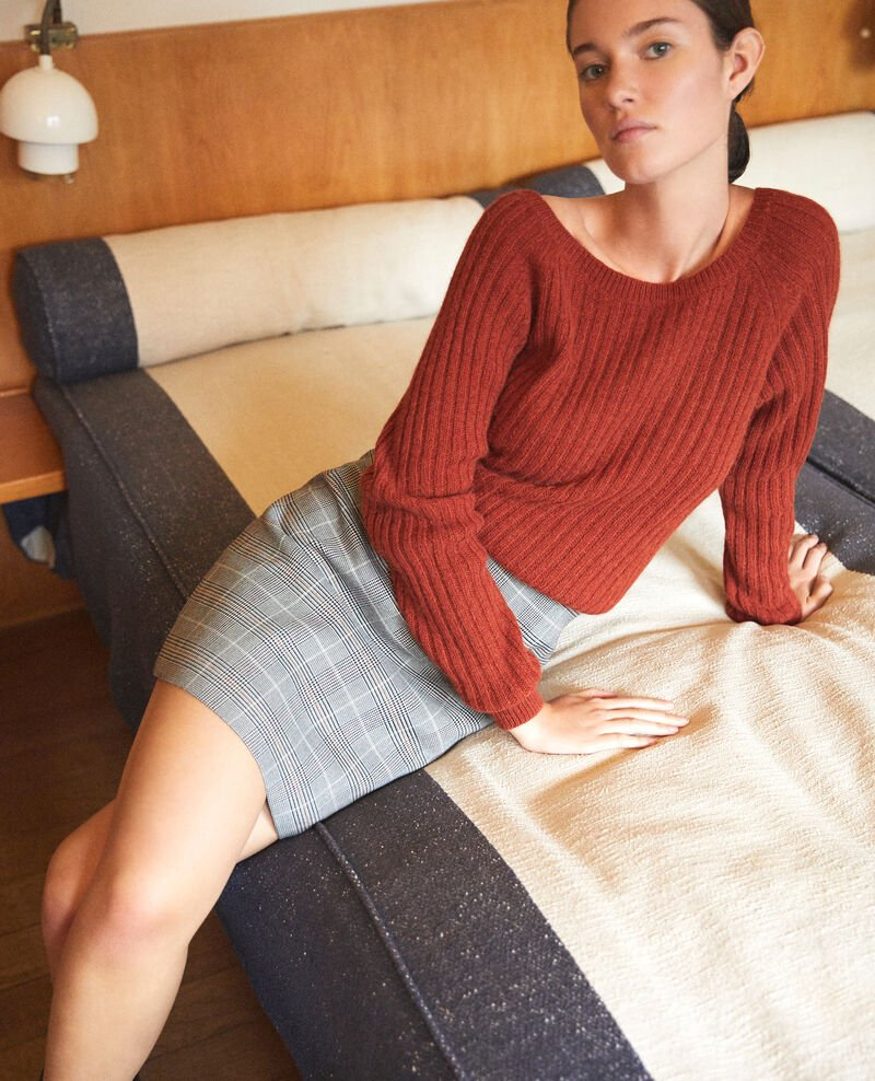 High-waist skirt NOIR