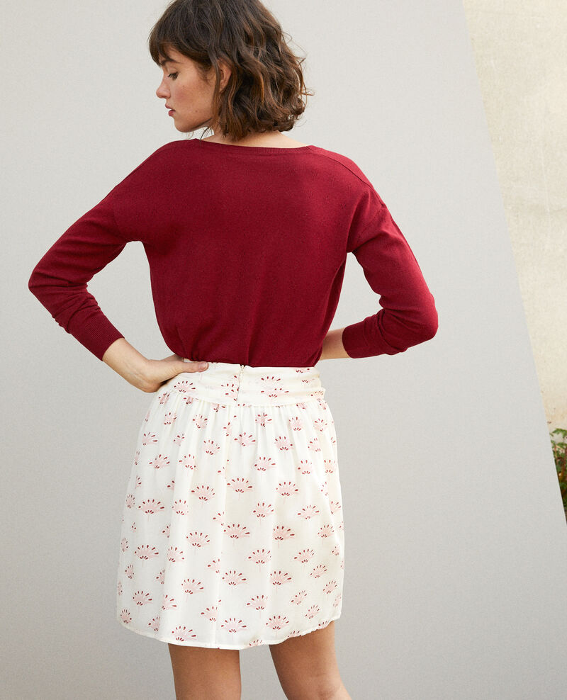 Short skirt Lotus fan winter white Gingembre