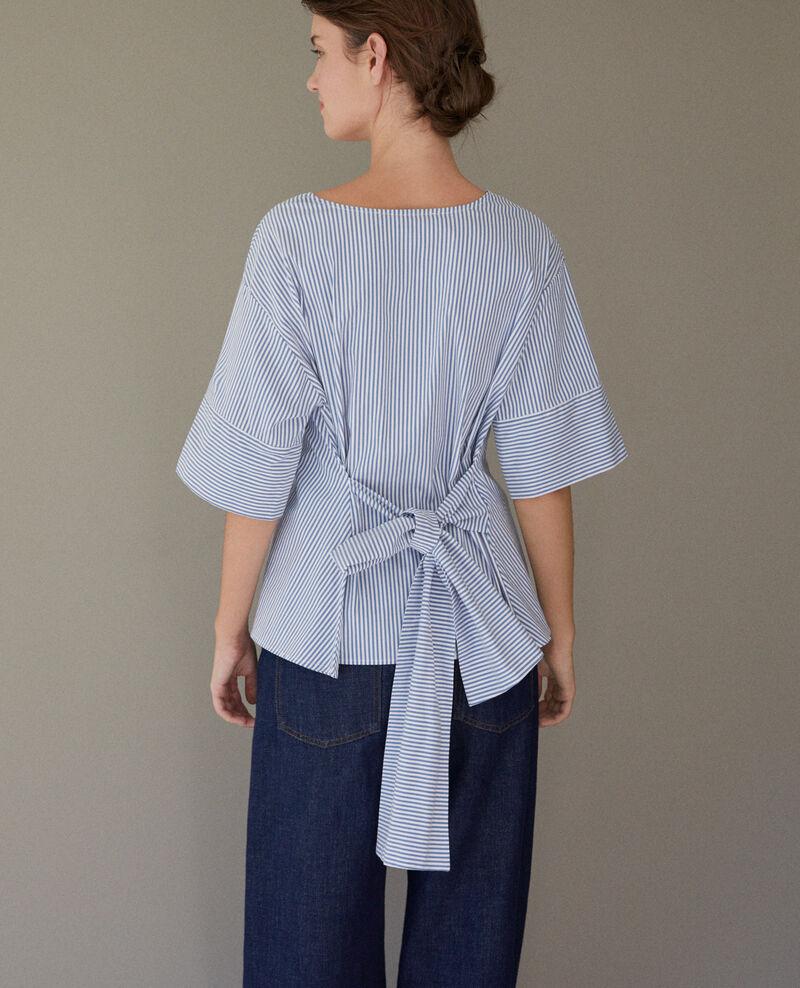 Striped blouse Indigo/white Charly
