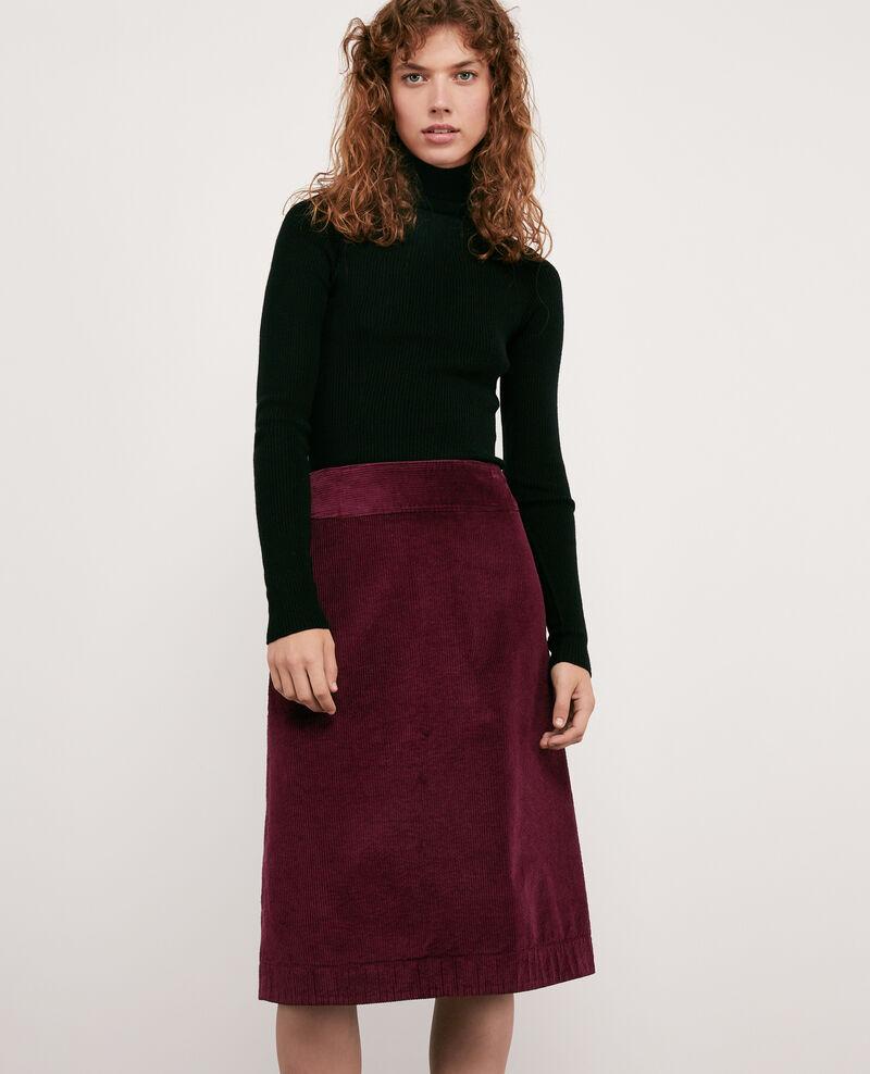 Corduroy skirt BURGUNDY