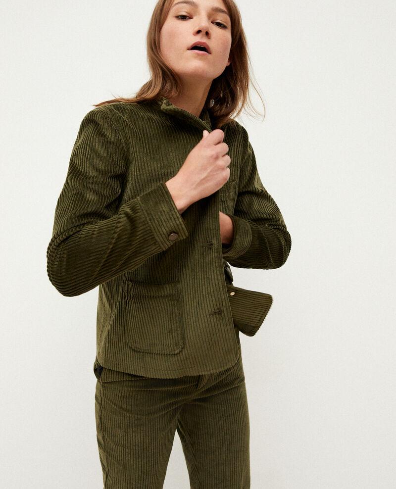 Ribbed corduroy jacket OLIVE NIGHT