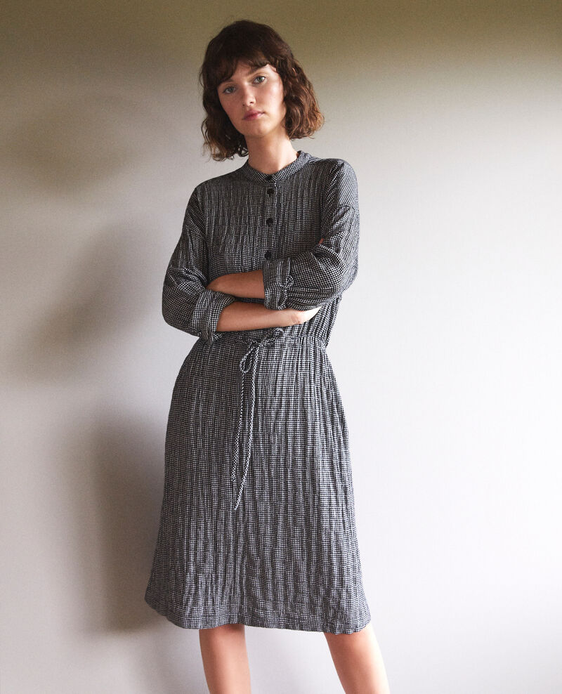 Dress with elasticated waistband Black/white Gresil