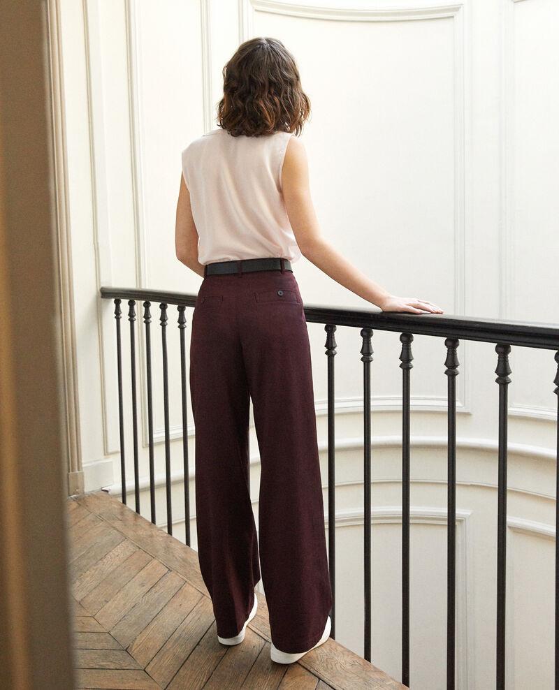 Loose fit trousers Decadente chocolate Gabin