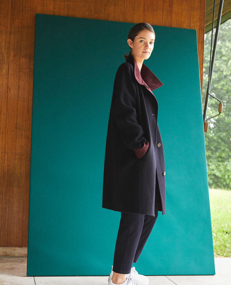 Coat with stand-up collar Navy Gexpresso