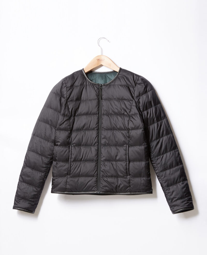 Reversible padded jacket Black/deep green Dinois