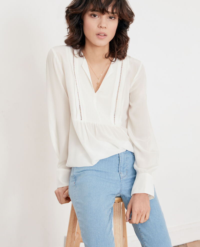 Silk blouse OFF WHITE