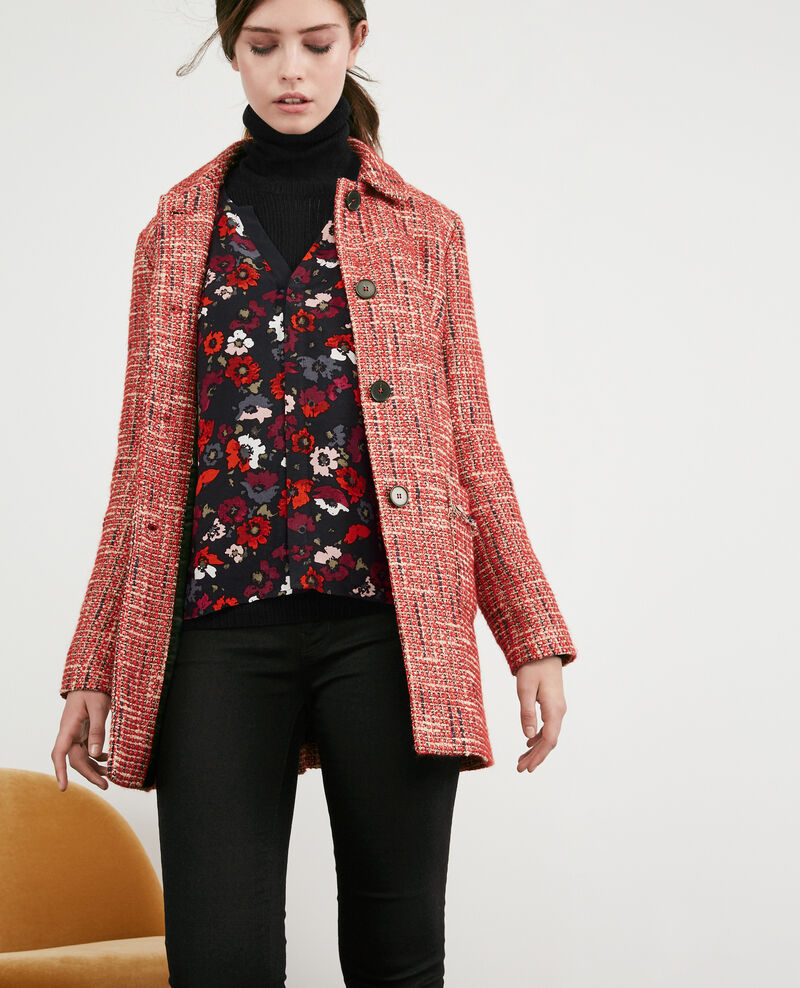 Tweed coat Orange red Dexception
