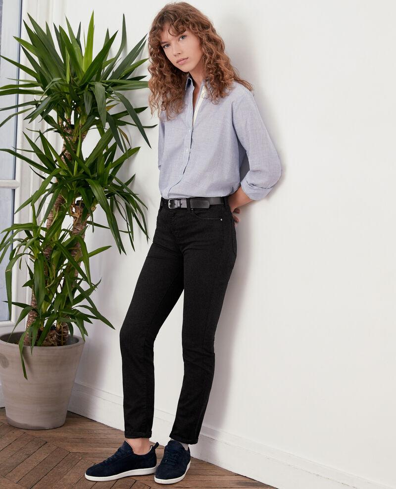 Soft touch cigarette fit jeans Noir Dhanna