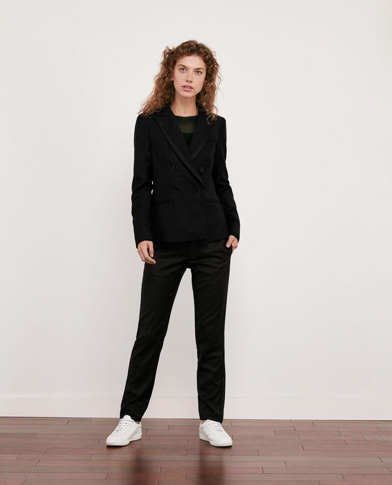 100% wool smart trousers Noir Dari