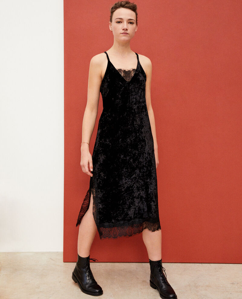 Velvet and lace dress NOIR