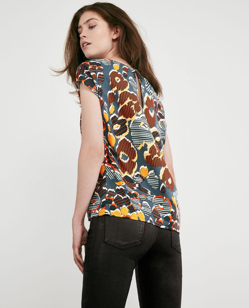 Floaty printed blouse Shaft curcuma Daurore