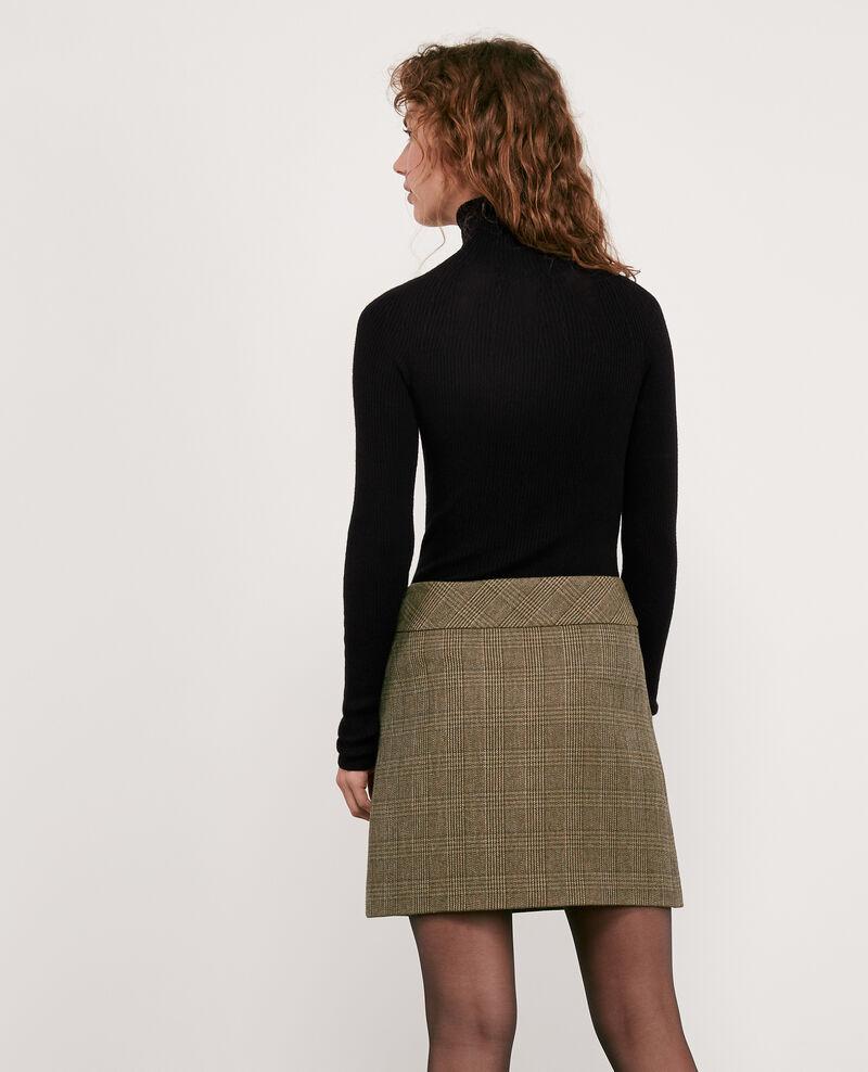 Herringbone tweed skirt Chamois Dastelnau