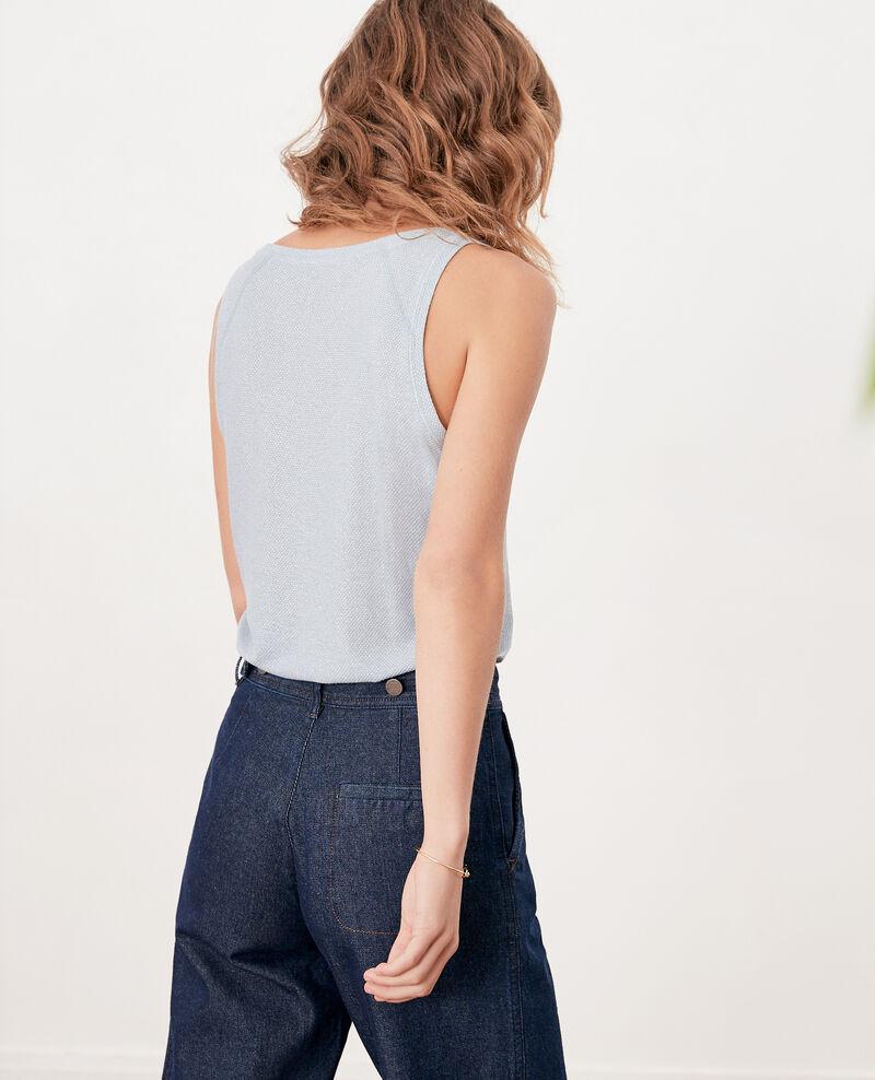 Shimmering linen blend vest Azur Fofie