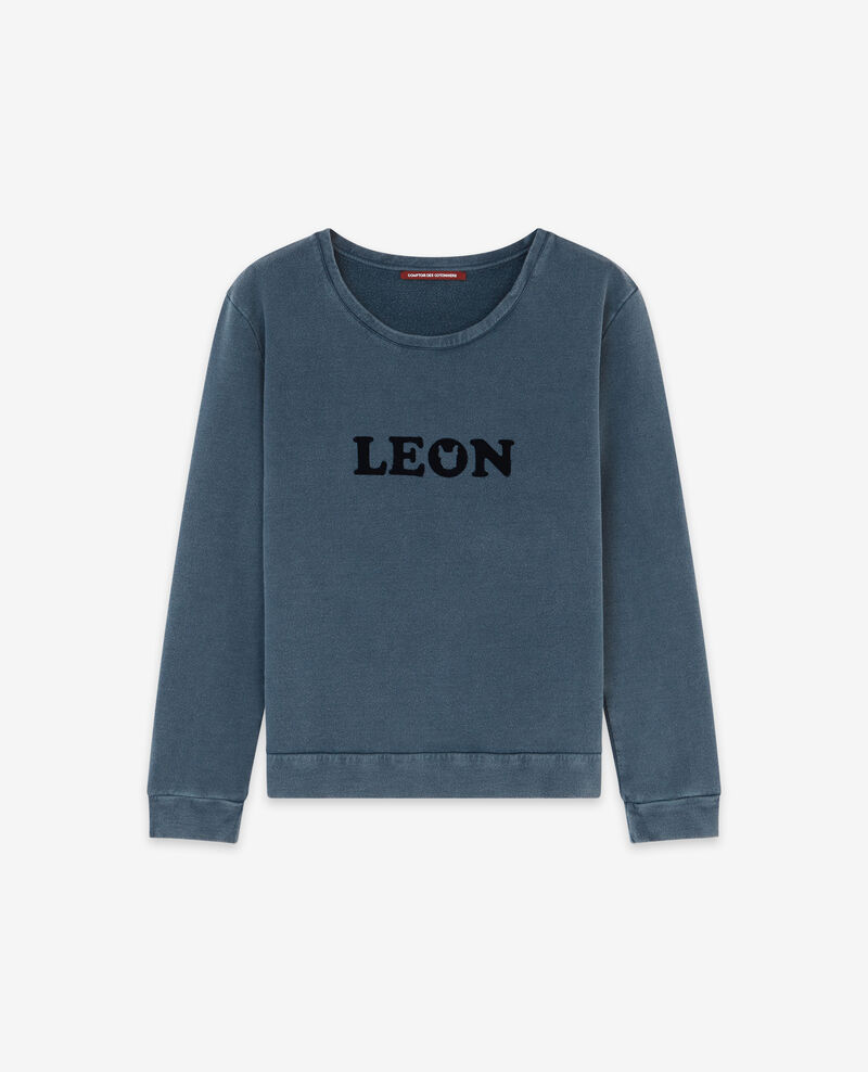 Sweater with Léon print Navy Douchoir