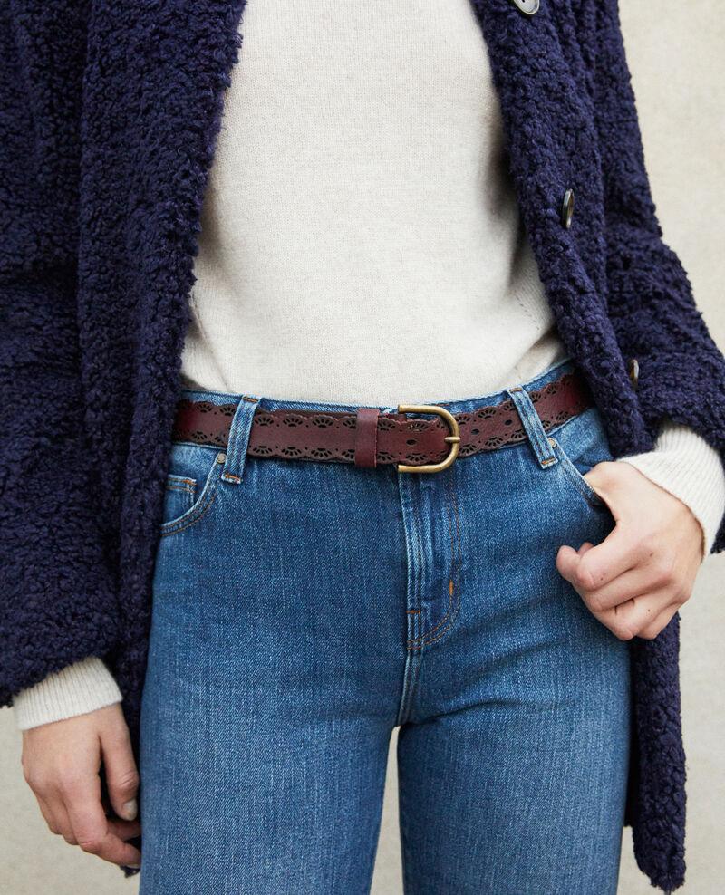 Braided leather belt DECADENTE CHOCOLATE