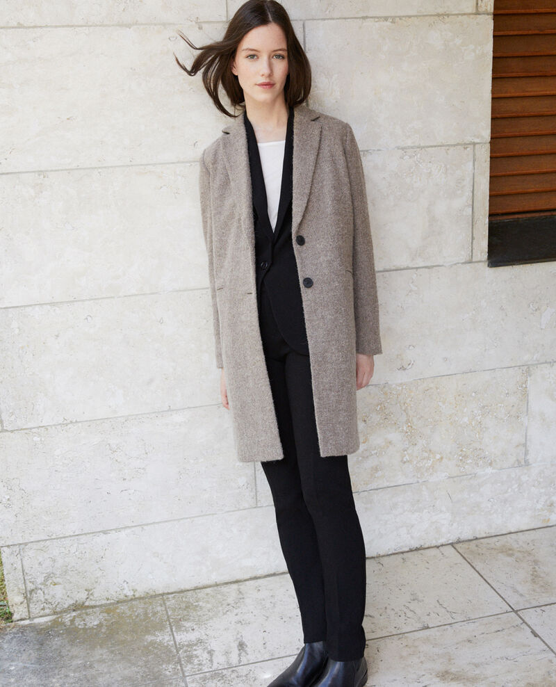Straight fit coat NATURAL