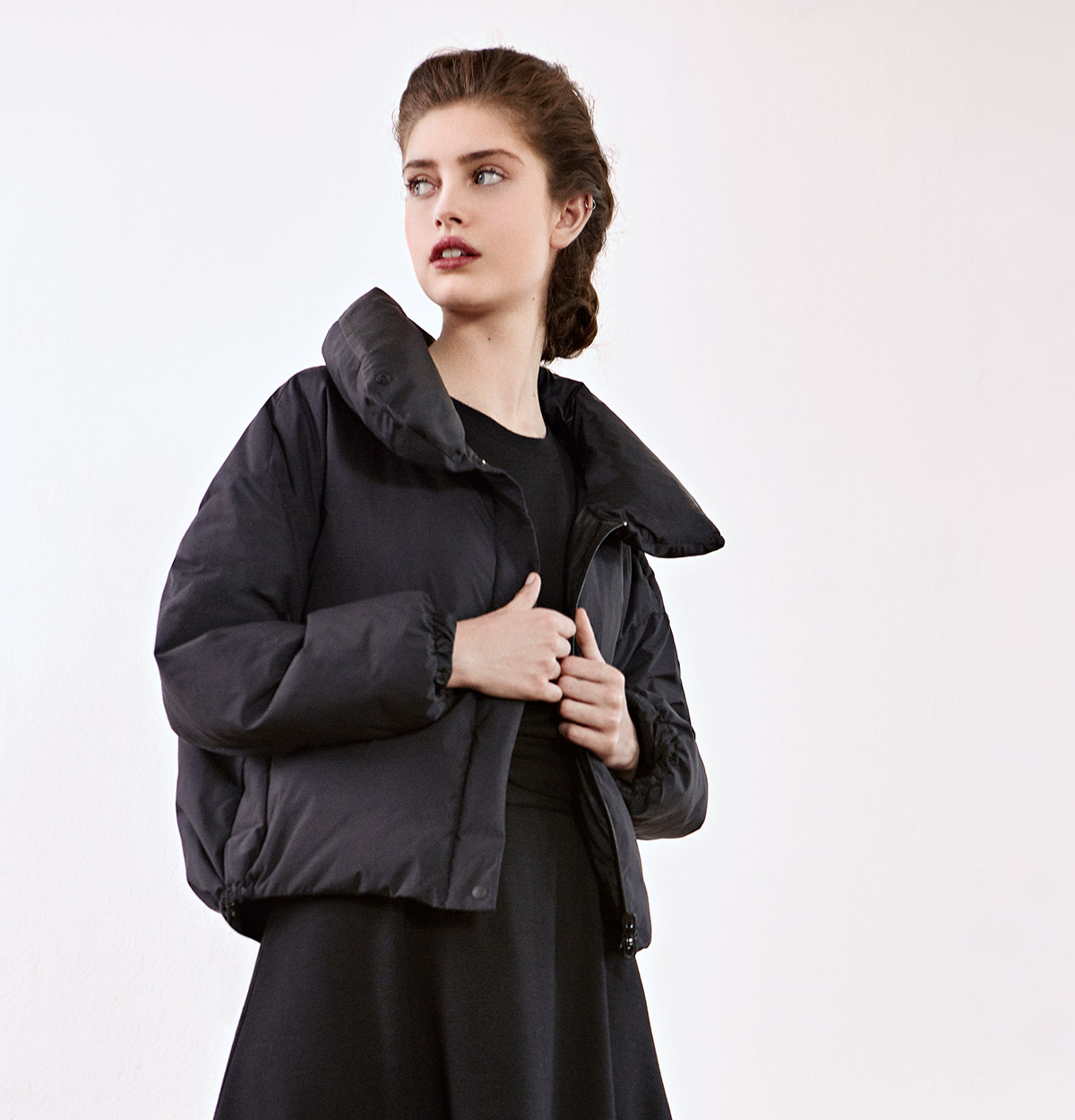 Look - Down jacket, Dress