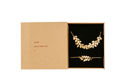 Coffret de Noel avec collier, bracelet et broche