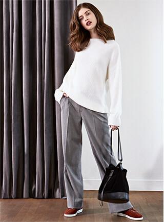 Look femme - Manteau et jupe en tweed