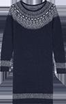 Robe jacquard avec alpaga et mohair