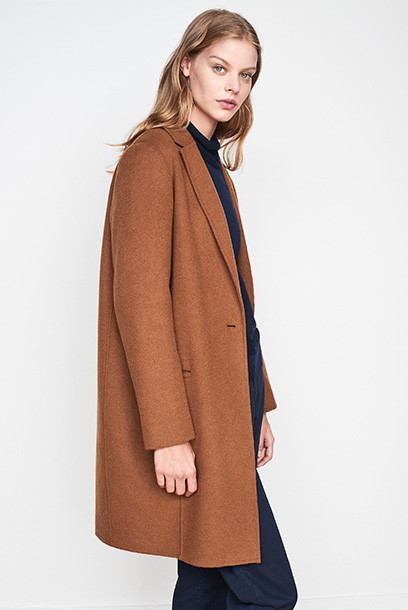 Woman look Officers coat and chinos