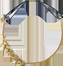 Headband doré avec elastique