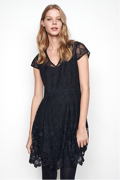Women look - lace and guipure dress