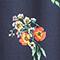 Pyjama-style trousers Fleurs navy Flower