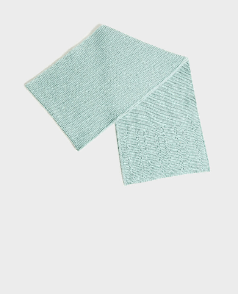 Cashmere scarf  Chinois green Minet