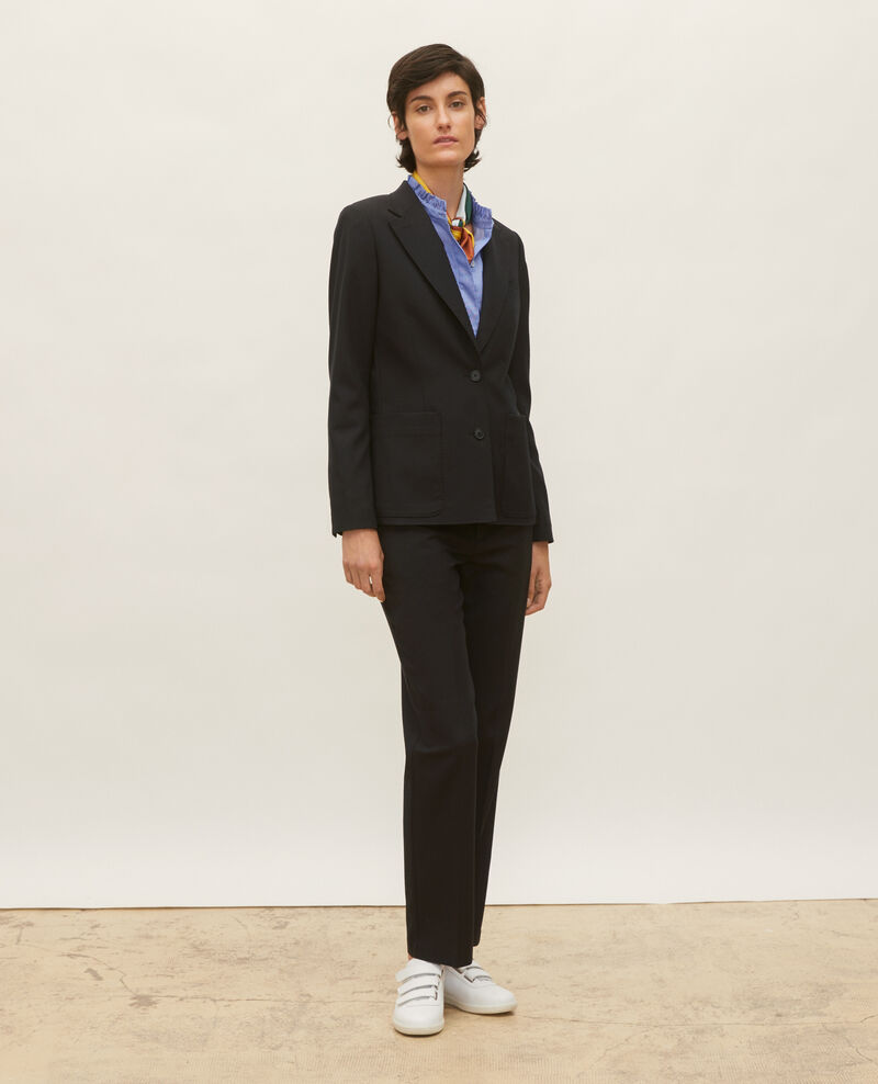 Lightweight smooth wool blazer Black beauty Luscade