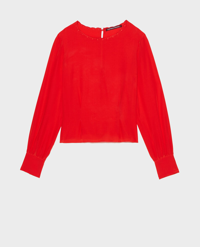 Embroidered blouse Fiery red Lolape