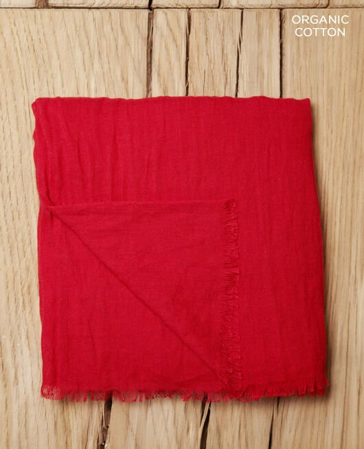Organic cotton scarf Rouge