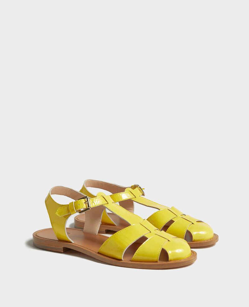 Patent leather sandals Maize Lapiaz