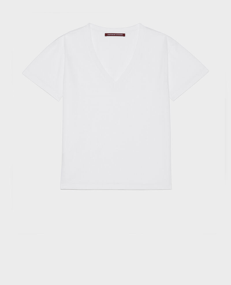Egyptian cotton t-shirt Optical white Laberne