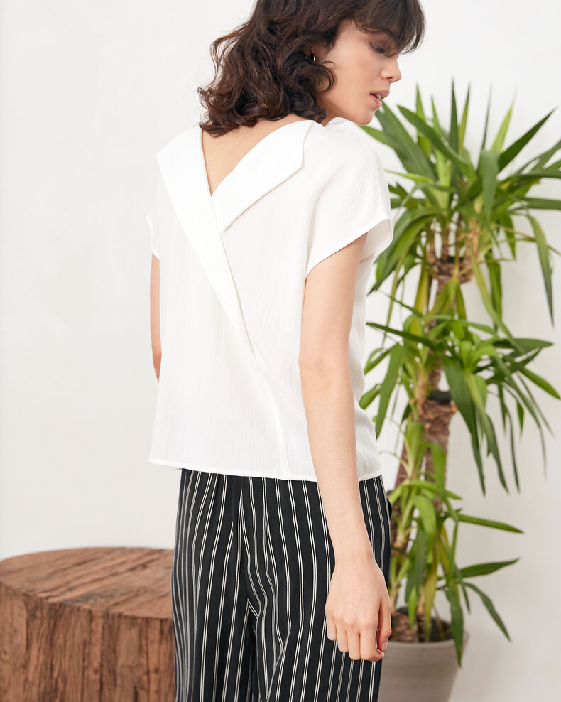 Top with low-cut back Off white Fevrier