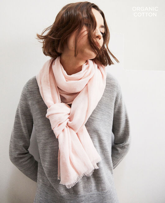 Organic cotton scarf Rose