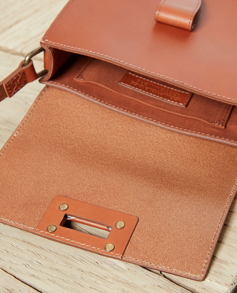 Small half-moon bag Camel Jordani