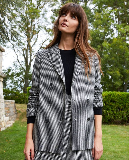 Houndstooth tailored jacket HOUNDTOOTH