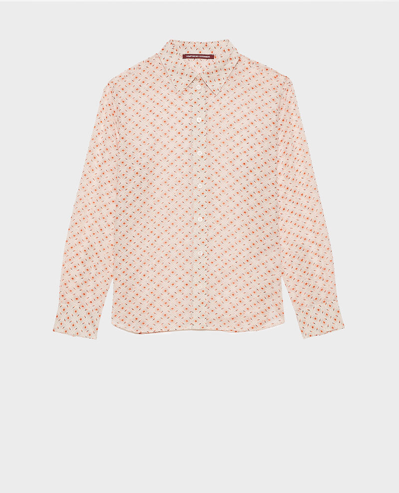 Printed cotton shirt Daisy seashellpink Nandes