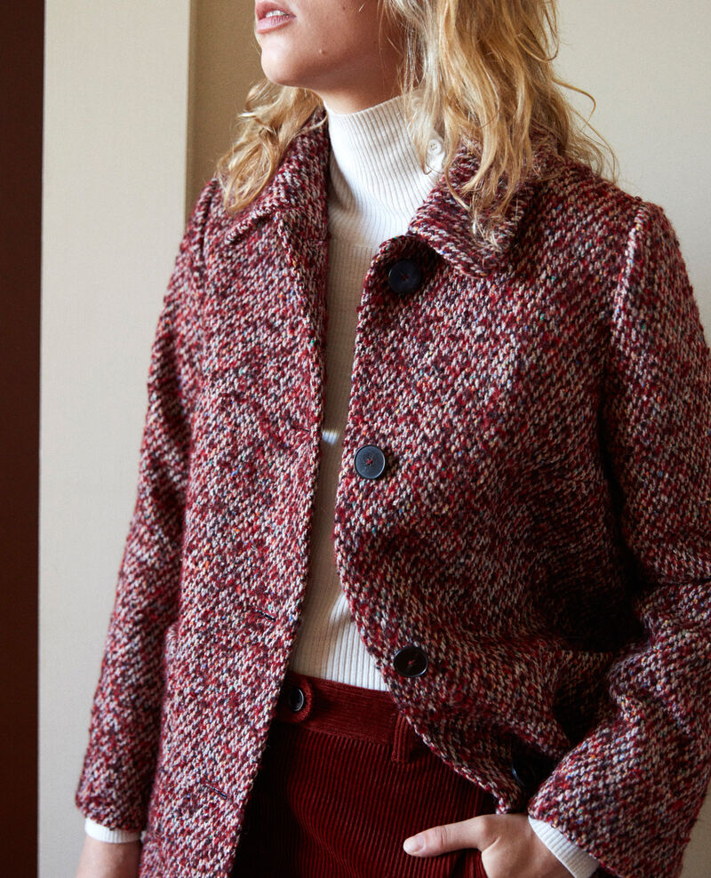 Tweed coat Red melange Jiarritz