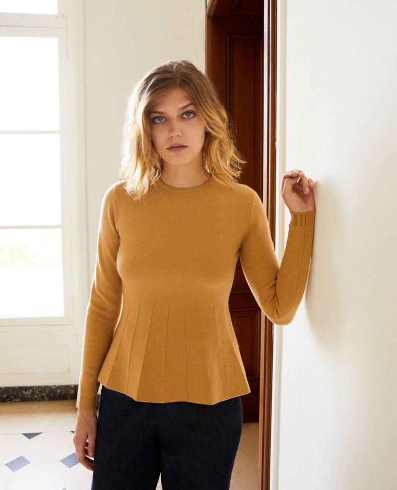 Round neck jumper Iced coffee Jamoiselle