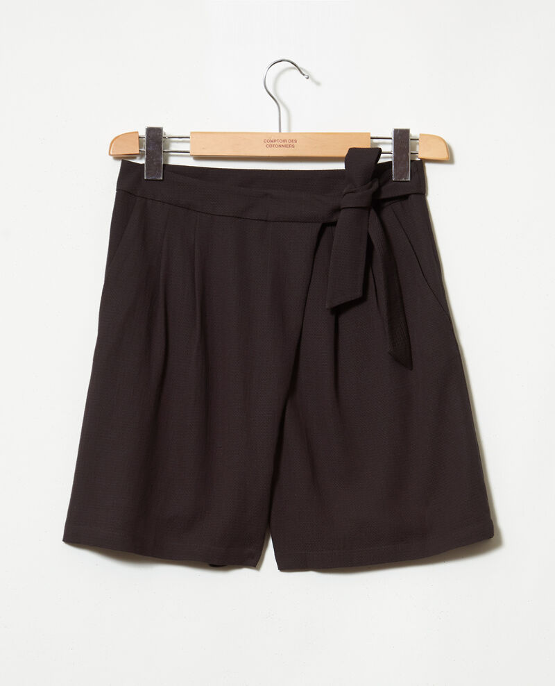 Shorts with a bow Noir Icalendre