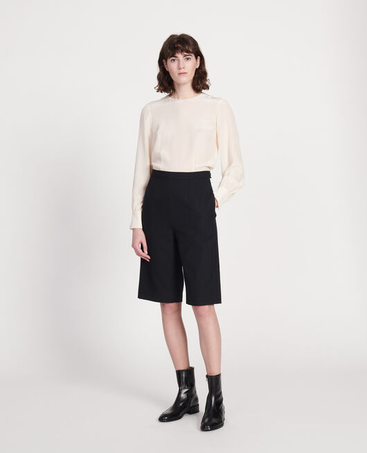 Smooth wool bermuda shorts BLACK BEAUTY